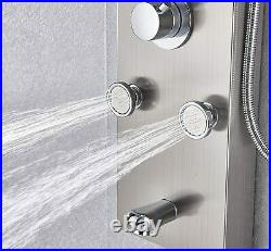 Thermostaic Stainless Steel Shower Panel Tower Rain&Waterfall Massage System Jet
