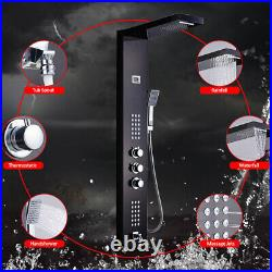 Thermostatic 38 Shower Panel Column Tower withHand Held Body Jets Stainless Steel