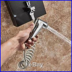 Thermostatic LED Rainfall Shower Panel Tower Body Massage With Handheld Spray Jets
