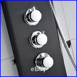 Thermostatic ORB Shower Panel Tower Rain&Waterfall Massage Body System Black Tap