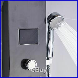 Thermostatic Oil Rubbed Bronze Shower Panel Shower System Tower Wall Mount