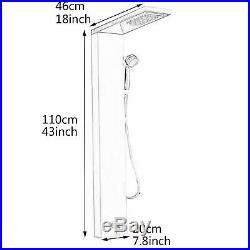 Thermostatic Shower Panel Column Bathroom Faucet LCD-Display Massage Body Jets