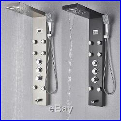 Thermostatic Shower Panel Column Tower Waterfall Bathroom Massage Body Jets UK