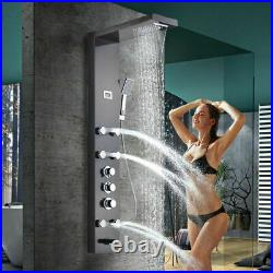 Thermostatic Shower Panel Column Tower with Body Jets Waterfall Bathroom Shower