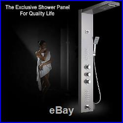 Thermostatic Shower Panel Tower Rain&Waterfall With Massager System With Body Jet