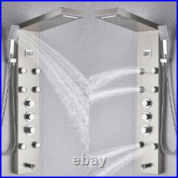 Thermostatic Shower Tower Panel with Body Jets Rain Waterfall Bathroom Mixer Taps