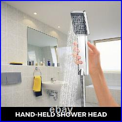 VEVOR 5 in 1 Shower Panel Tower System Faucet Sprayer Stainless Steel Wall-Mount