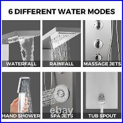 VEVOR Shower Panel Tower Rainfall System Massage Jet Wall-Mount Stainless Steel