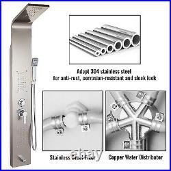 VEVOR Shower Panel Tower Waterfall/Rainfall System Faucet Spraye Stainless Steel