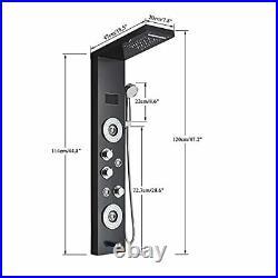 Votamuta LED Light Rainfall Waterfall Shower Panel Tower Rain Massage System