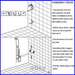 Wall Mount Shower Column Panel Spa Massage Jets Tub Spout Hand Shower Mixer Set