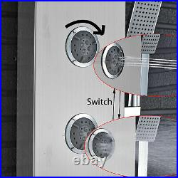 Wall Mount Shower Panel Column Stainless Steel Faucet Massage System Hand Shower