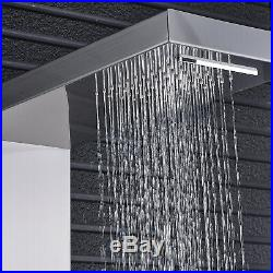 Wall Mount Shower Panel Tower Rain Waterfall Faucet Massage Jet System Tub Tap