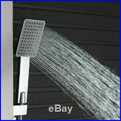 Wall Mounted Brushed Nickel Shower Panel Shower Column Massage Jets & Hand Unit