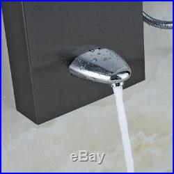 Waterfall Rain Shower Column Massage Jets Sprayer Shower Panel Hand Shower
