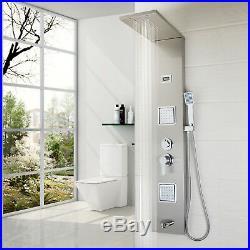 Waterfall Rain Shower Column Massage Jets Sprayer Shower Panel Tub Hand Shower